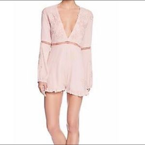 For Love and Lemons Dusty Rose romper